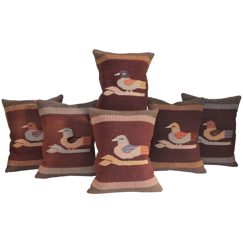 Mexican Indian Weaving's Bird Pillows