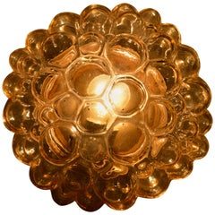 Midcentury Ceiling Helena Tynell Bubble Glass Flush Mount, 1960s