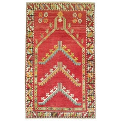 Antique Turkish Melas Prayer Niche Motif Rug, 20th Century