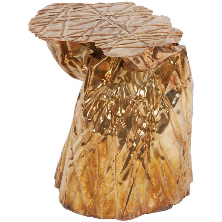 "Christopher Prinz ""Wrinkled Side Table"" For Sale"