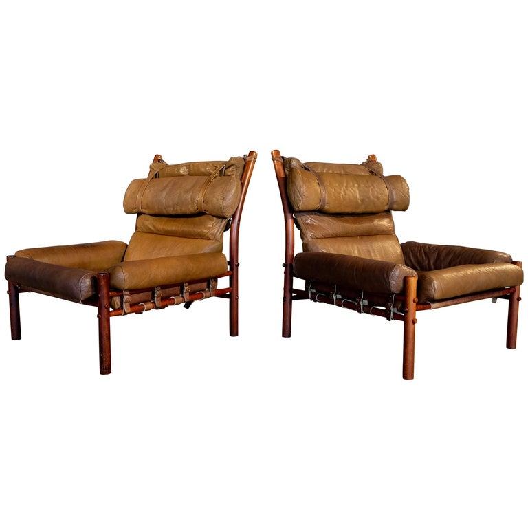 Pair of Arne Norell Easy Chair Model Inca, 1960s