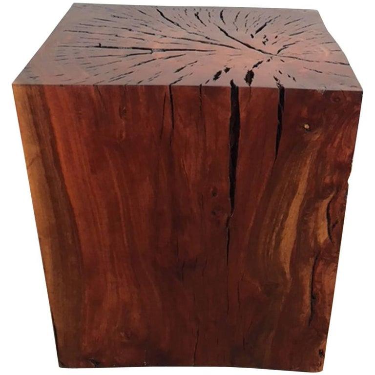 Eucalyptus End Table or Art Display Pedestal