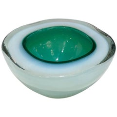 1960s Green Murano Glass Dish