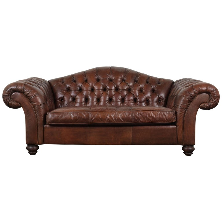 Hickory Chesterfield Tufted Leather Sofa