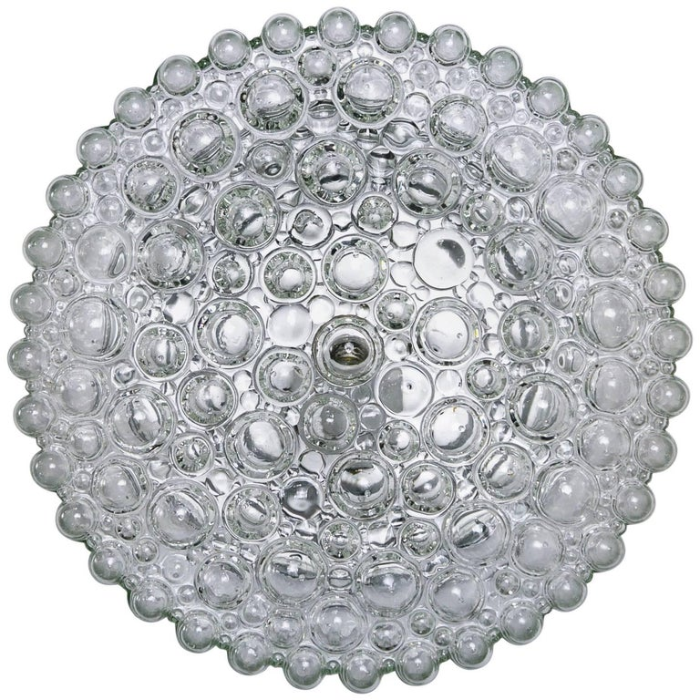 Circular Crystal Clear Bubbles Sconce by Helena Tynell