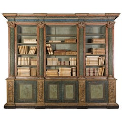 18th Century Italian Polychrome Faux Marbled Pharmacist's Display Cabinet