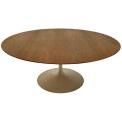 Vintage Saarinen for Knoll Tulip Base Walnut Coffee Table