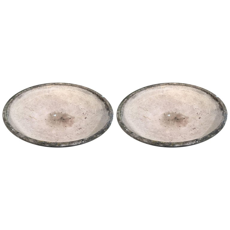 Pair of Very Large Willy Guhl Bowl Planters