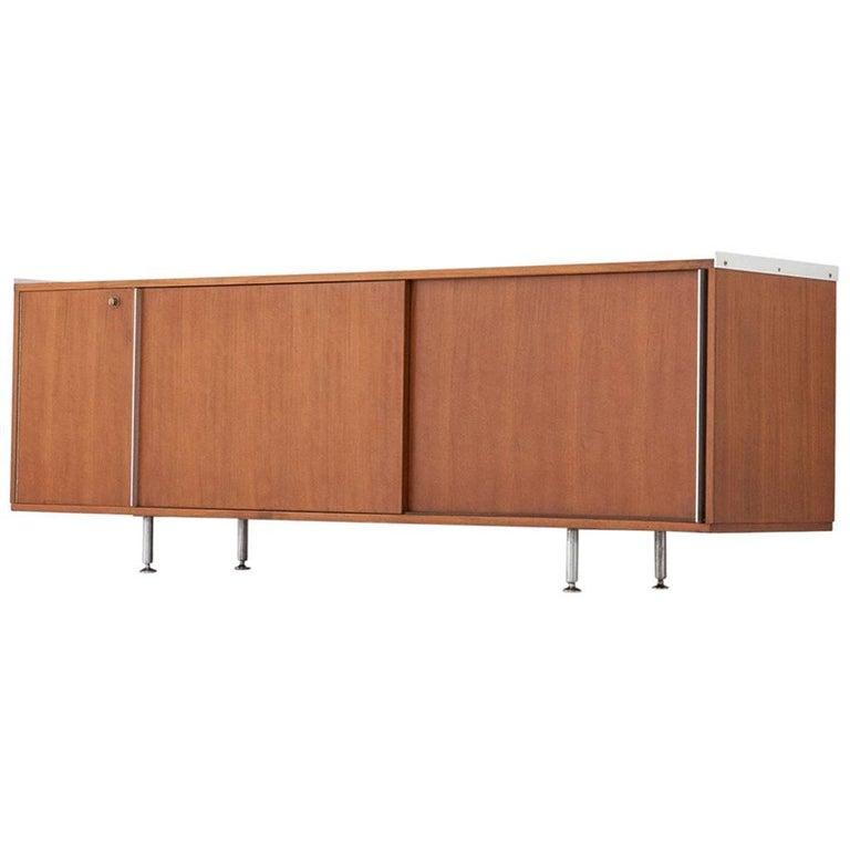 Italian Mid-Century Modern Walnut Wood Sideboard by Rosselli Gio Ponti, 1950s