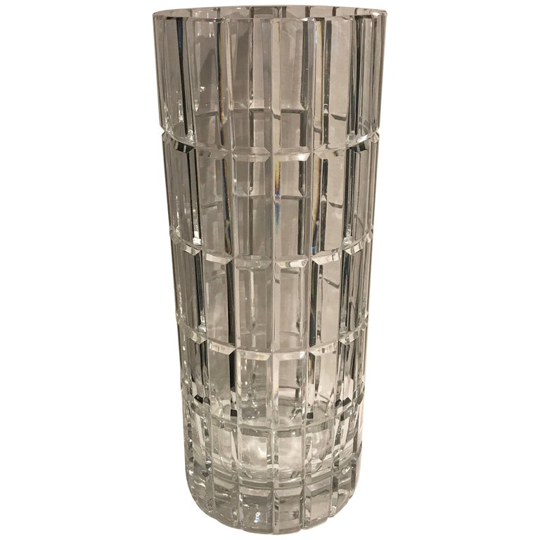 Cartier Cylindrical Crystal Vase