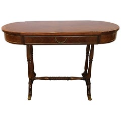Very Elegant Glossy Wood Console Table or Writing Desk
