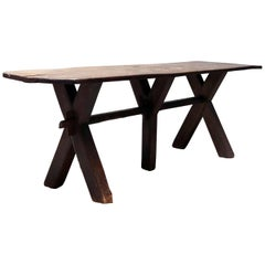 Old French Laundry Table from the 19th Century