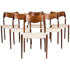 Set of Six Dining Chairs by Niels O. Møller