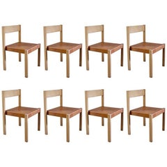 Set of Eight 1970s Dining Chairs