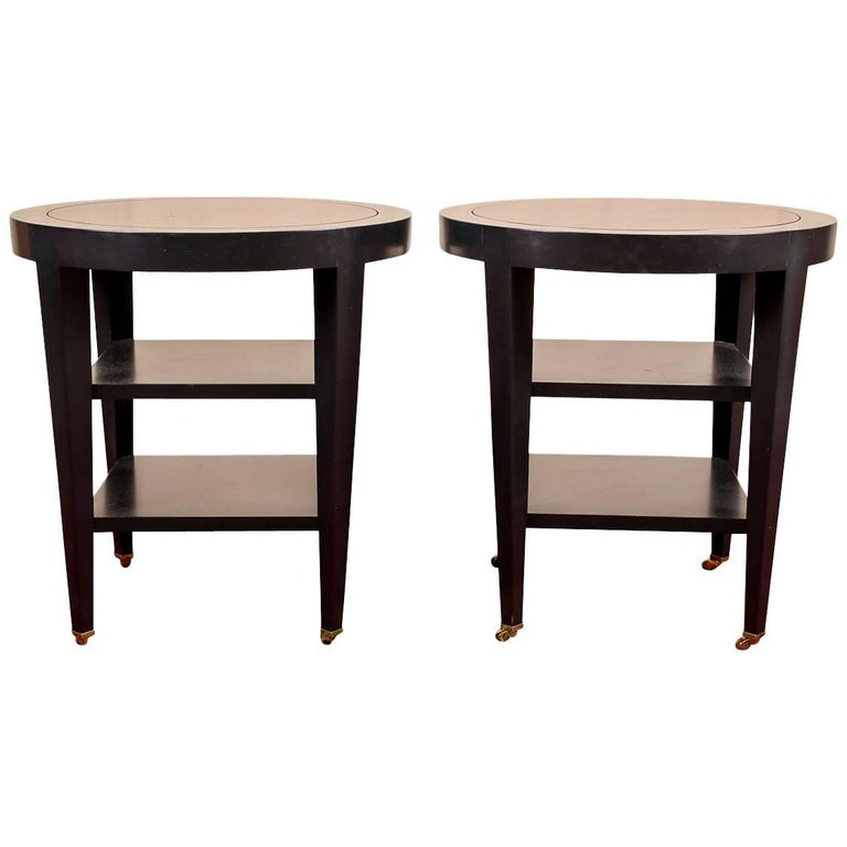 Pair of Donghia Round Side Tables