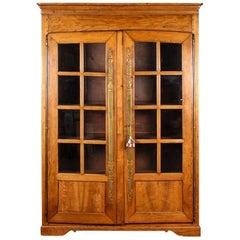 Antique French Oak Bookcase Cabinet