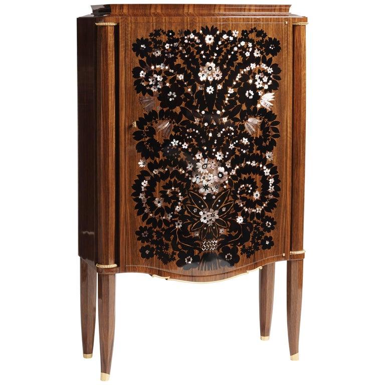 """Jules Leleu """"Meuble feu d'Artifices,"""" Fireworks Cabinet, France, C. 1946 For Sale"""