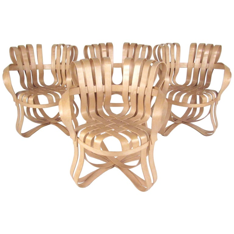 "Frank Gehry ""Cross Check"" Chairs for Knoll For Sale"