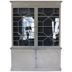 English Country House George III Painted Bookcase