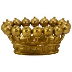 20th Century Ormolu Carriage Crown