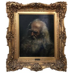 """""""A Brooding Man""""  Jean Simon 'Toulos France' Old Master Painting"""