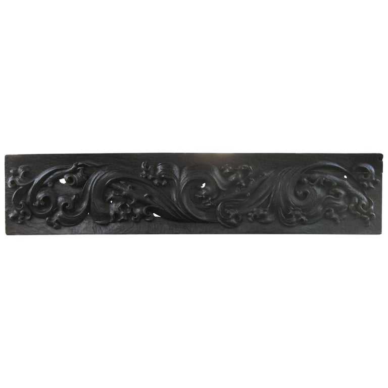 Large 18th Century Pennsylvania Carved Frieze For Sale