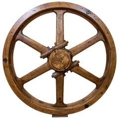 Large North American Industrial Wooden Wheel