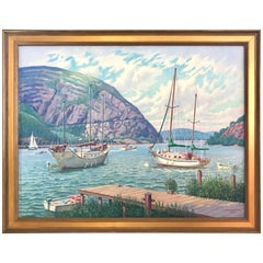 Original Edward Tomasiewicz Signed Hudson River Oil Painting