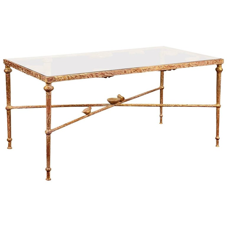 Gilt Bronze Low Table in the Manner of Diego Giacometti