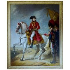 Equestrian Portrait of Napoleon Bonaparte in Battle Oil on Canvas Over 10' Tall