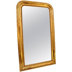 19th Century French, Louis Phillipe Giltwood Mirror