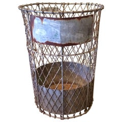 Industrial Heavy Gauge Metal Mesh Waste Basket by Norwich