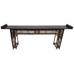 19th Century Bamboo Altar Table