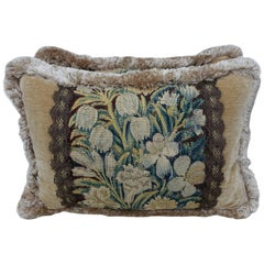 18th Century Flemish Tapestry Pillows, Pair