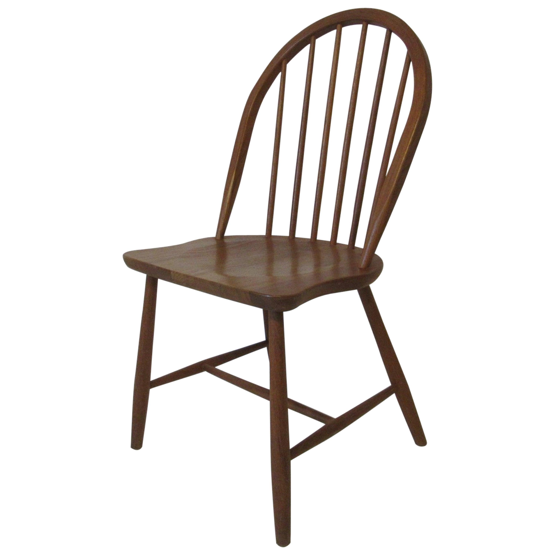 Danish Teak Wood Desk Chair by Eric Ole Jorgensen Denmark