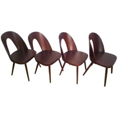 Set of Beechwood Chairs, Design Antonín Šuman, 1960s
