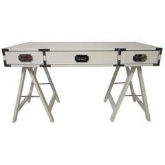 1970s Mod Campaign Desk or Vanity