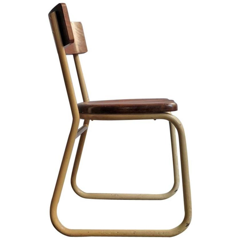 Industrial Wooden and Metal Chair