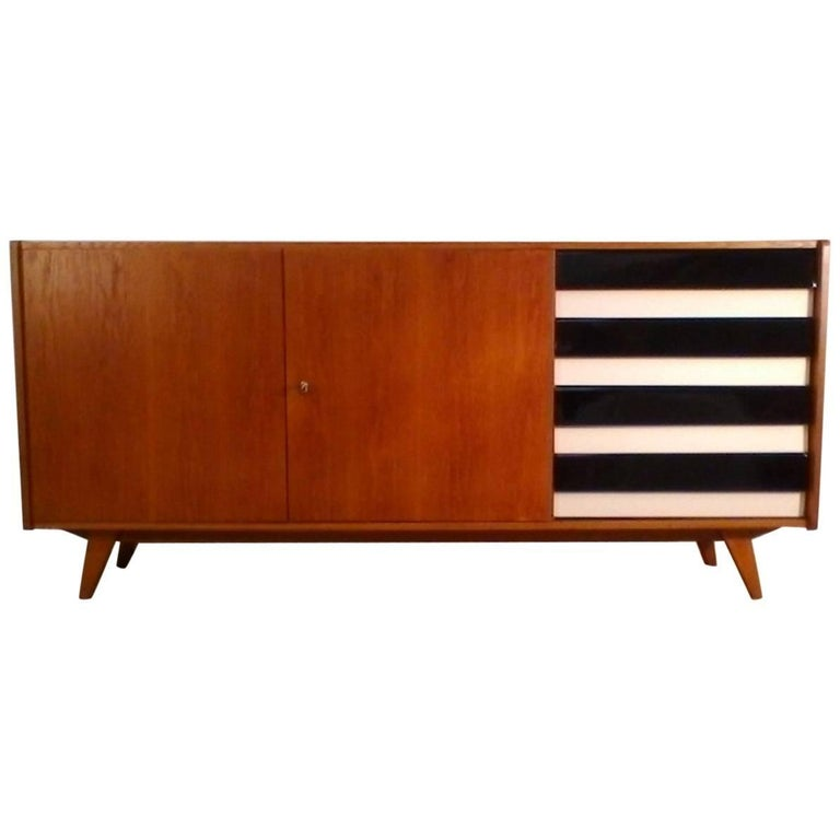 Retro Drawer Chest, 1950s, Jiří Jiroutka