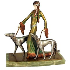 'The Arsitocrats' Art Deco Sculpture by Otto Poertzel