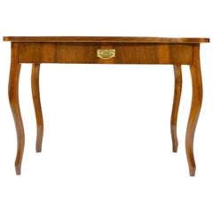 Antique Writing Desk with Drawer, Nut Veneered