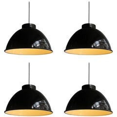 Big Industrial Black and White Pendant Lamps