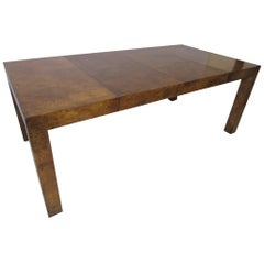 Milo Baughman Burl Wood Dining Table or Conference Table
