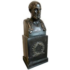 "Bronze Bust of Hippocrates ""The Father of Medicine"""