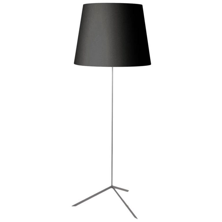 double shade floor lamp in black or white by marcel wanders for