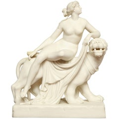 19th Century English, Parian Model of Ariadne and the Panther