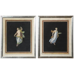 Two 19th Century Italian, Hand Colored Prints of the Dancing Hours