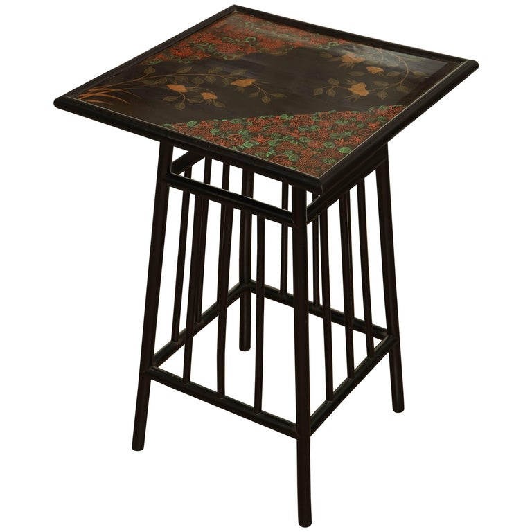 Late 19th Century English, Lacquered and Decorated Table