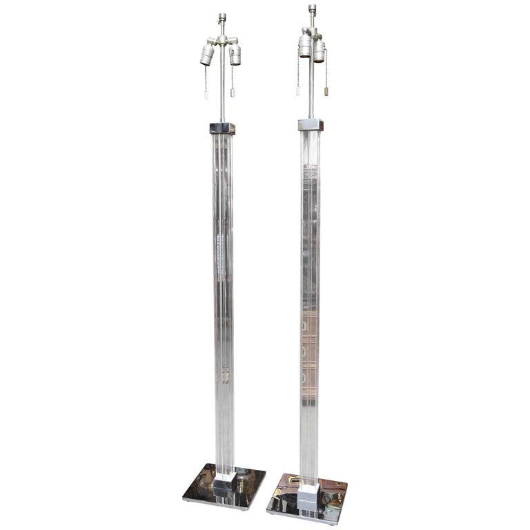 Pair of Karl Springer Floor Lamps