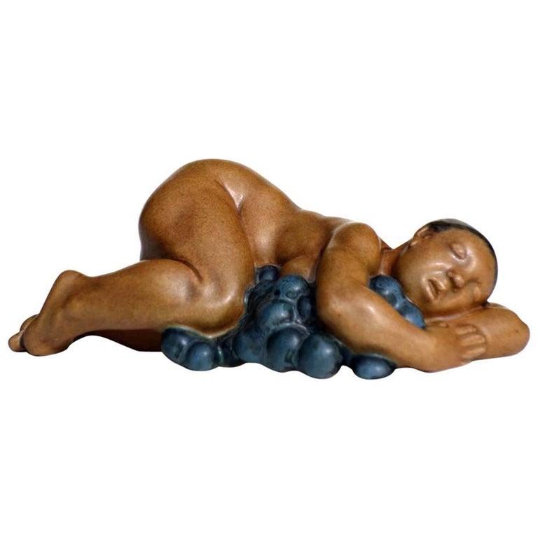 Kai Nielsen Bing & Grondahl Denmark Stoneware Figure For Sale
